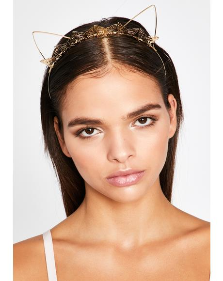 Fly With Me-ow Butterfly Headband