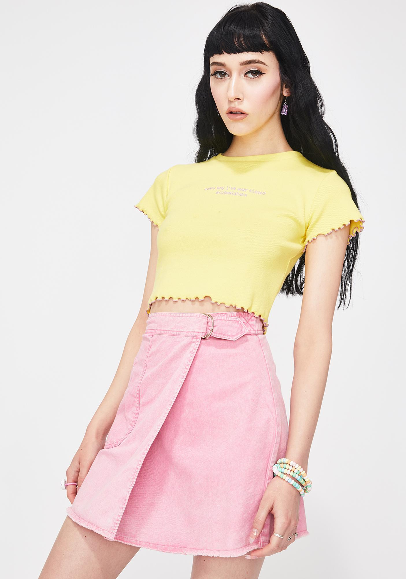 Cute Mistake Pink Thank U Next Mini Skirt