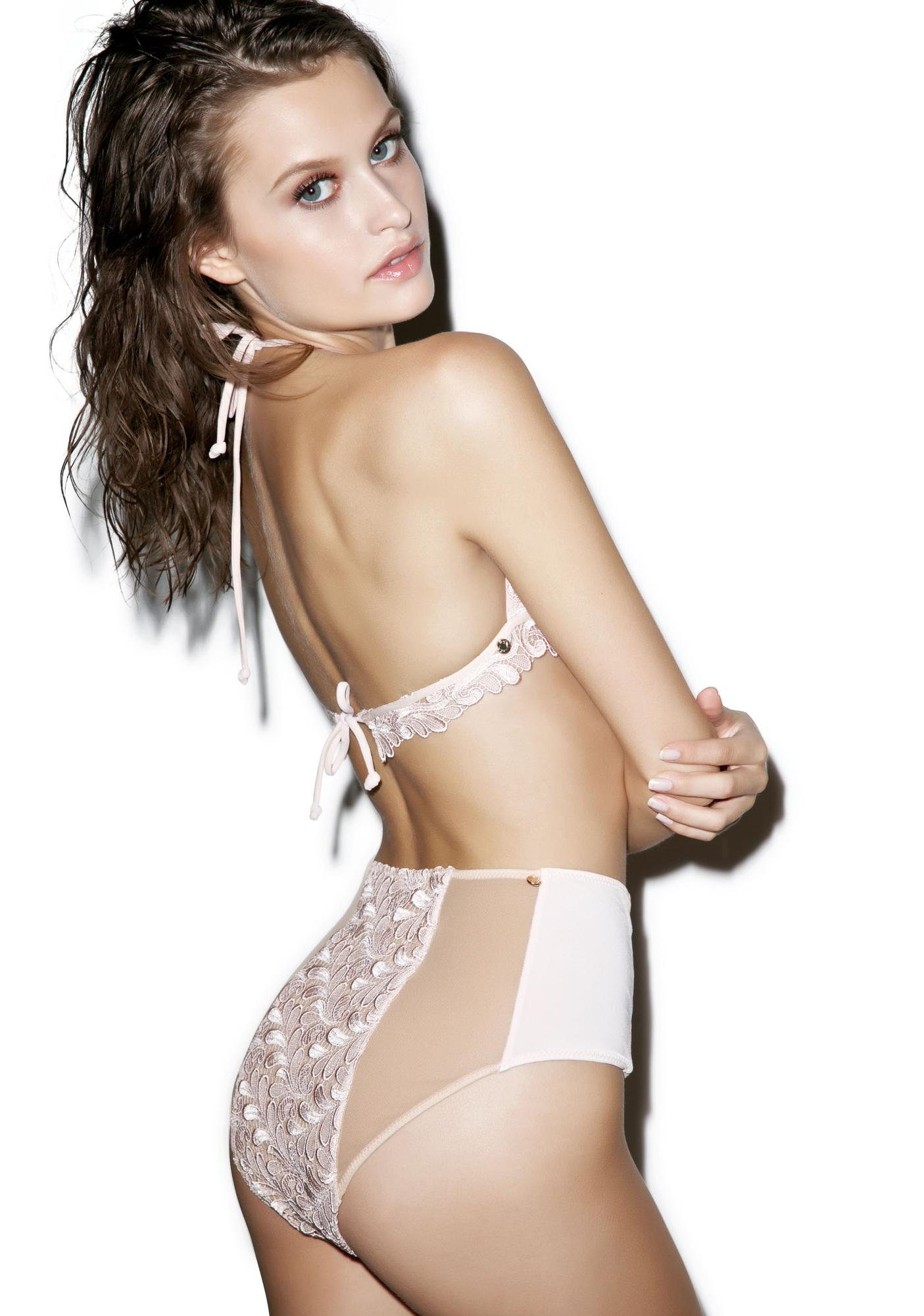 For Love & Lemons Naples Hi Waisted Bikini Bottom