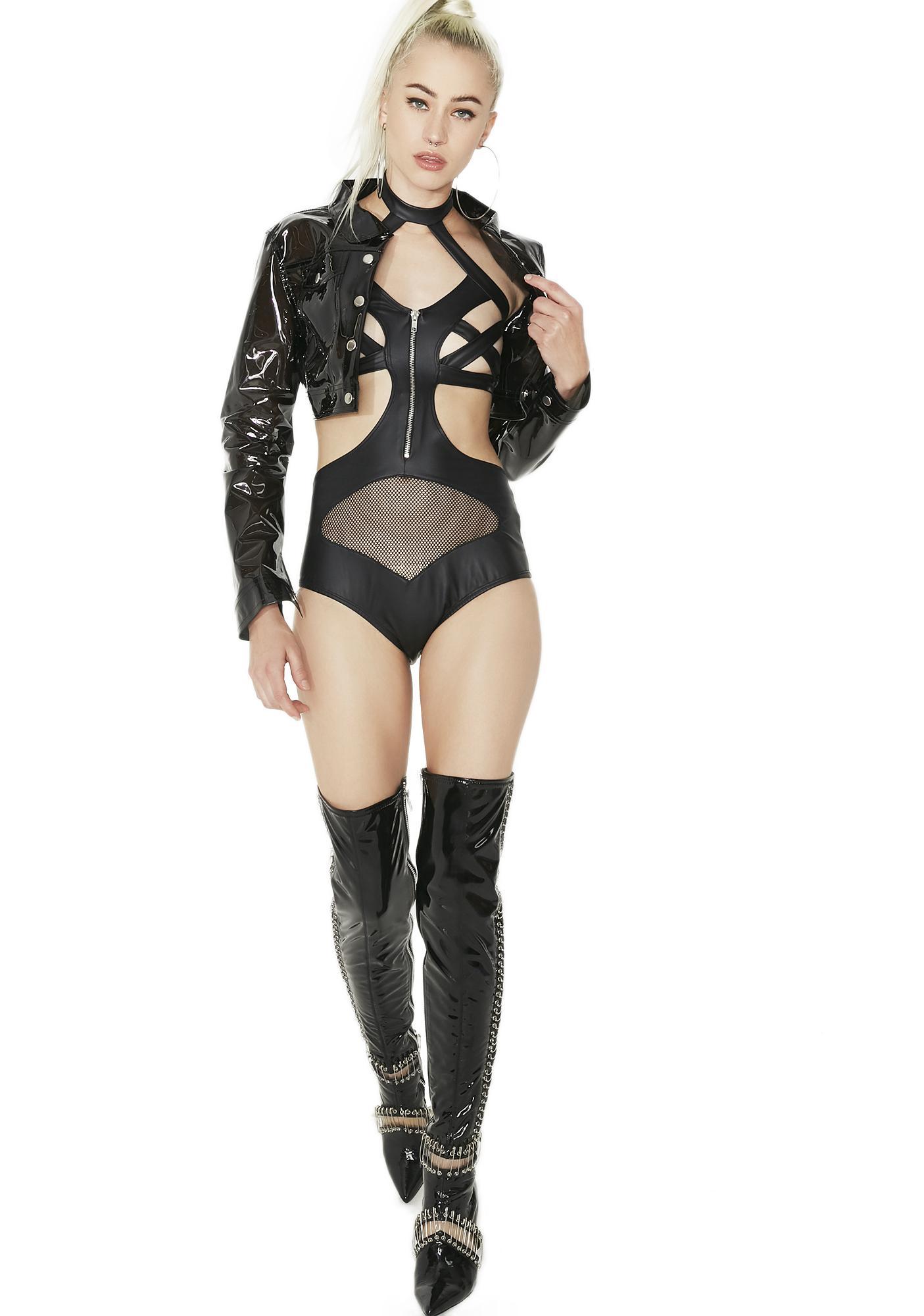 Love Me Not Zip-Up Bodysuit
