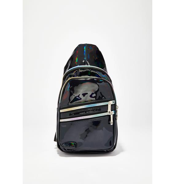 Dark Prismatic Rainbow Sling Bag