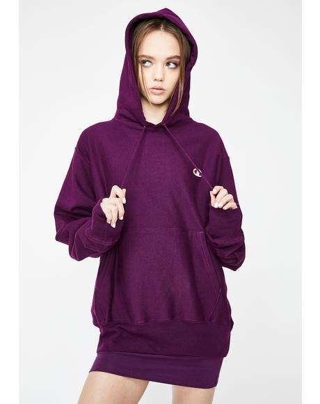 Venetian Purple Reverse Weave Hoodie