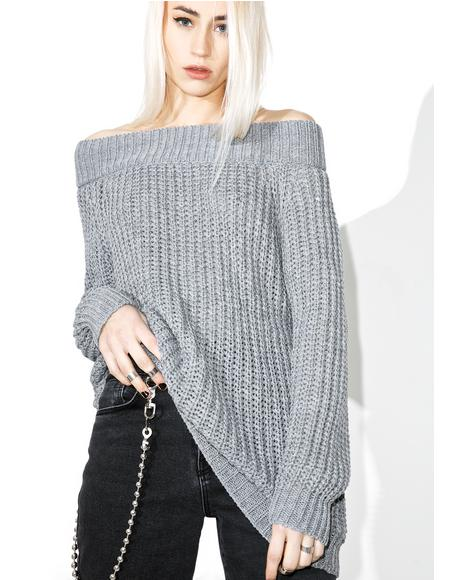 Ashen Shredded Sweater