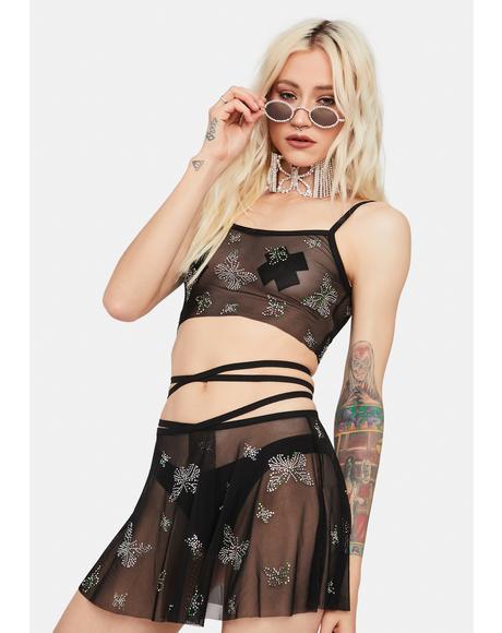 Fantastic Flight Butterfly Mesh Skirt Set