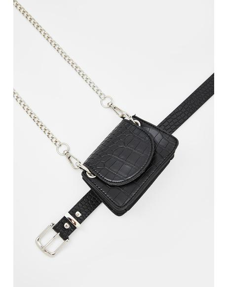Attached At The Hip Crossbody Belt Bag