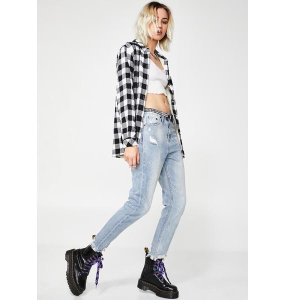 The People VS Indigo High Waist Mum Jeans
