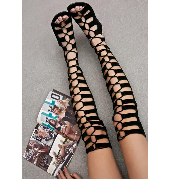 Resist Lace-Up Sandals