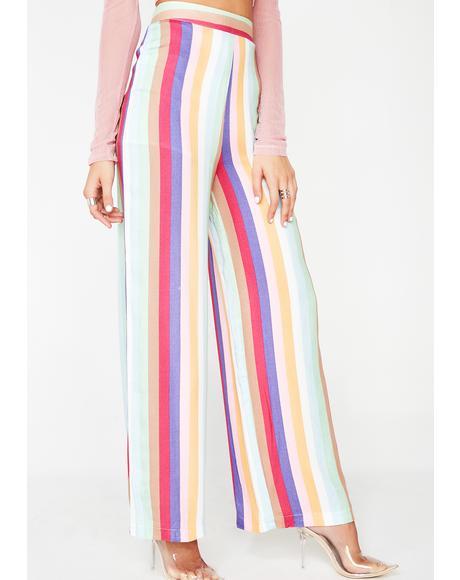 Striking Stripes Wide Leg Pants