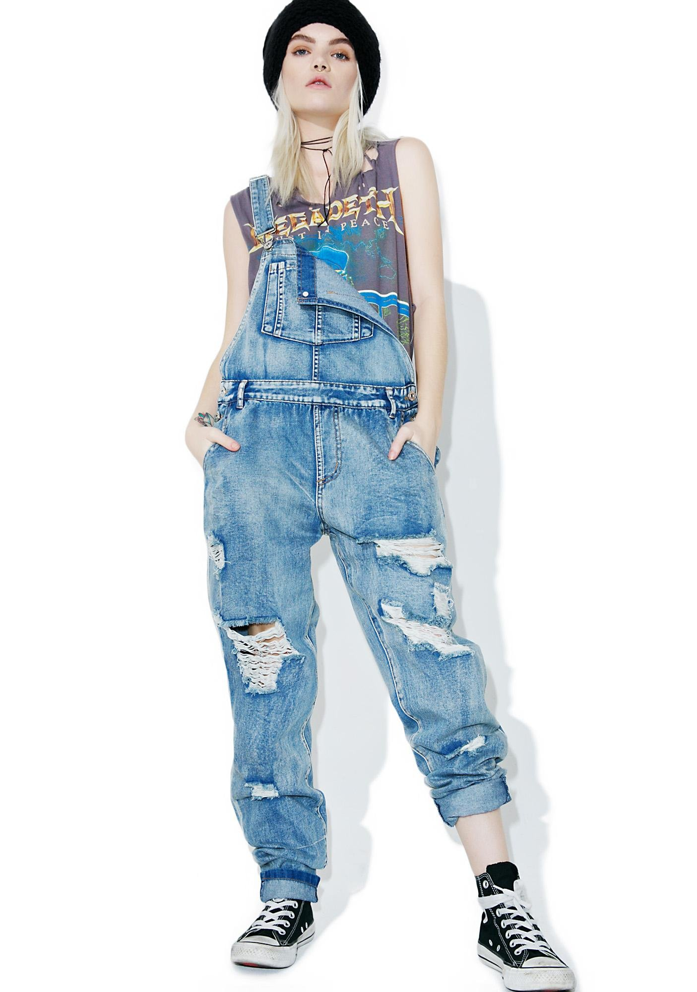 Pollock Destroyed Overalls
