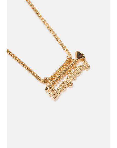 Screw Everything Chain Necklace