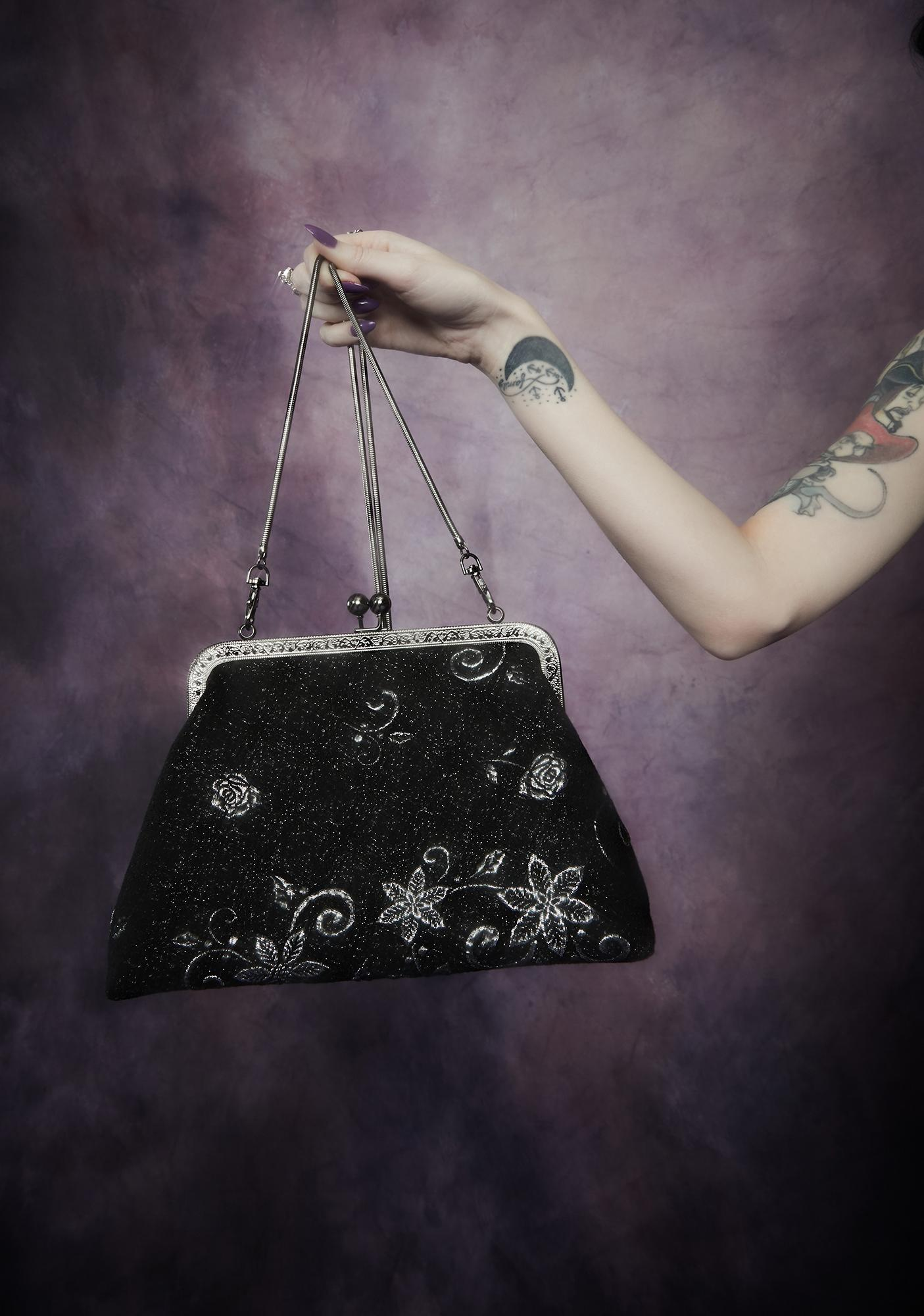 Widow Night Music Brocade Purse