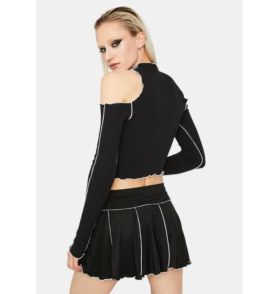 Boo Stuck With U Pleated Mini Skirt