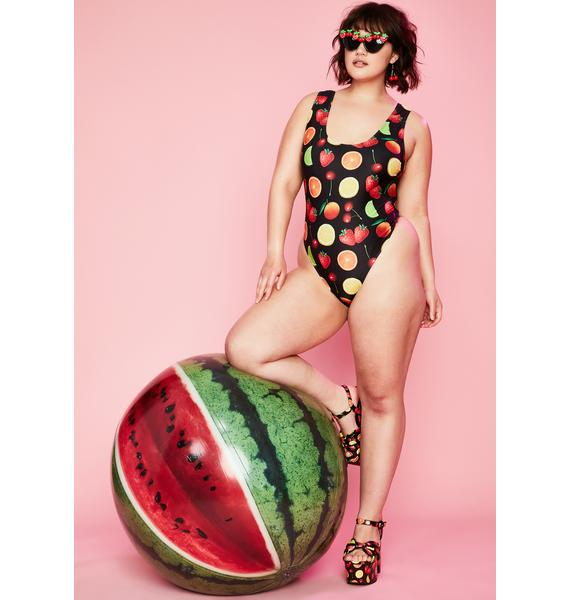 Sugar Thrillz Duh Fresh Squeezed One Piece Swimsuit
