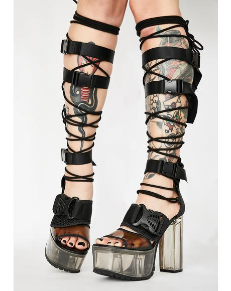 Ride Or Die Lace Up Heels