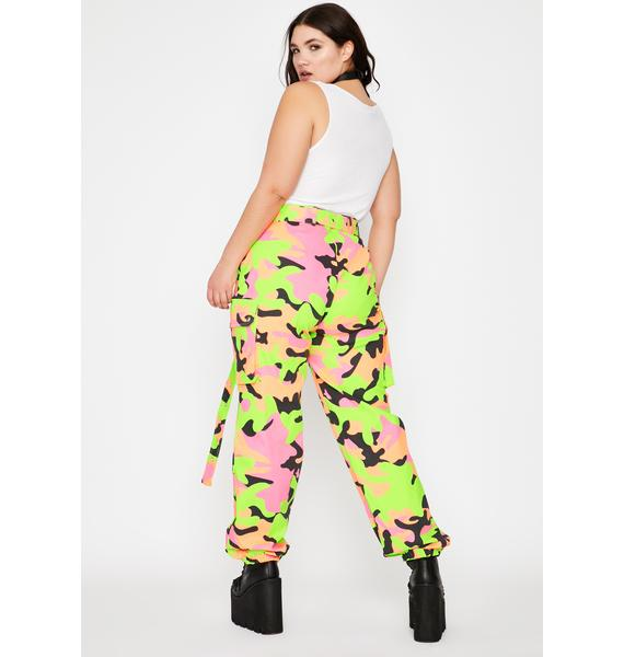 Nuclear Neon Army Cargo Pants