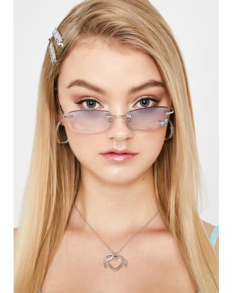 Sky Stay Charmed Butterfly Sunglasses