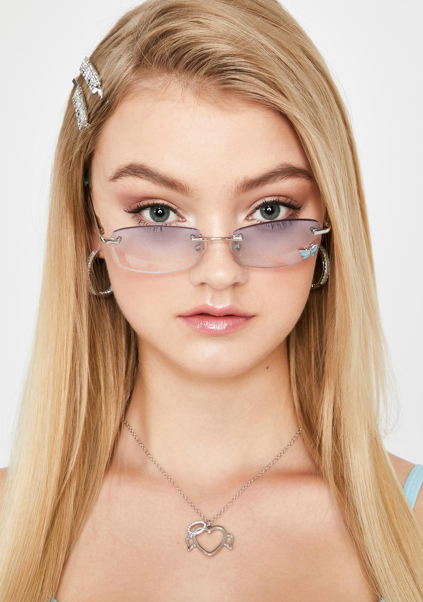 Replay Vintage Sunglasses Sky Stay Charmed Butterfly Sunglasses