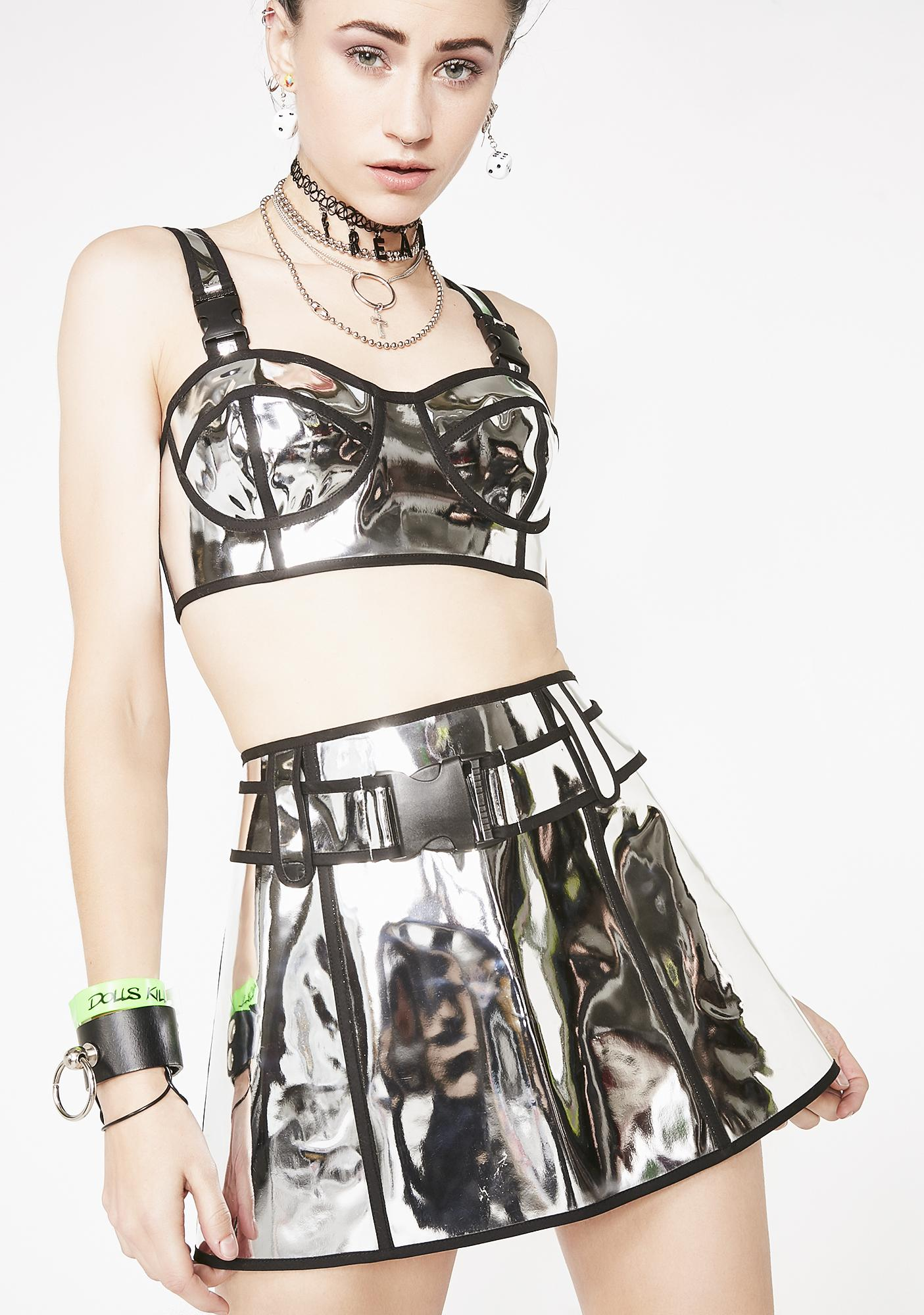 Club Exx Chrome Runner Skirt