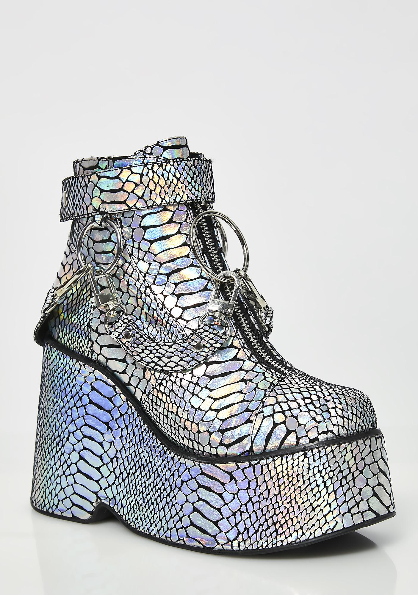 Club Exx Electric Venom Hologram Boots