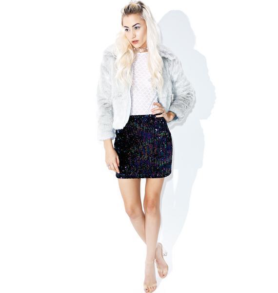 Motel Cherry Tube Skirt
