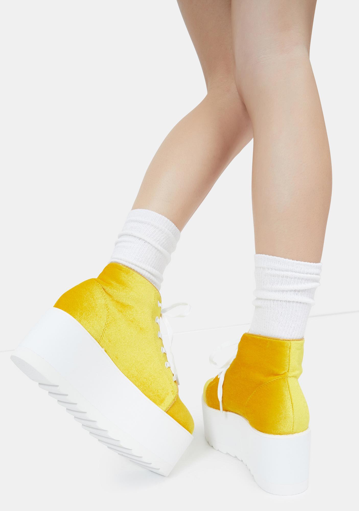 Lemon Drop by Privileged Yellow Barletta Platform Sneakers
