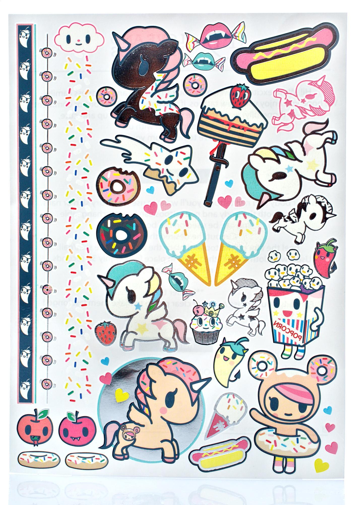 Love And Madness X Tokidoki Tattoo Set