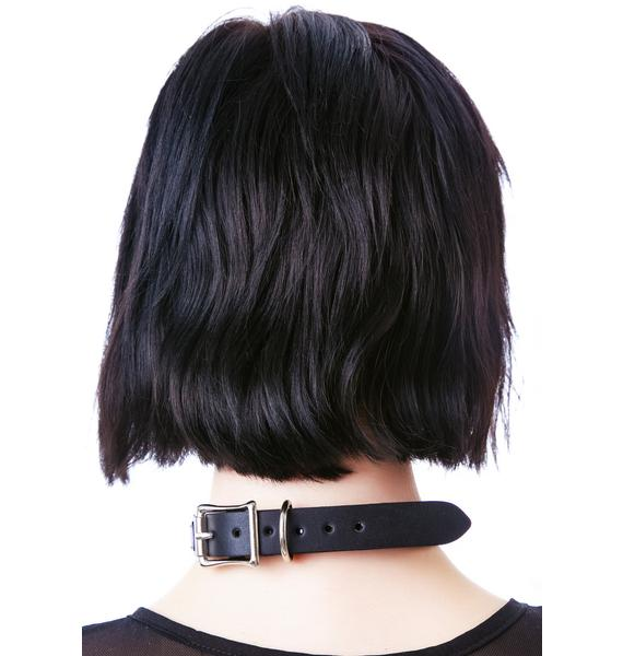 Club Exx Strap Tease Leather Choker