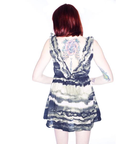 One Teaspoon Ocean Smoke Mini Dress