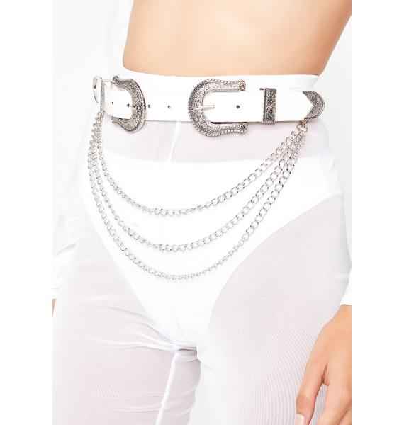 Pure Money Bags Double Buckle Belt