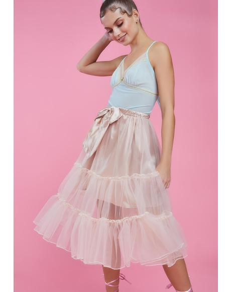 Tutu For Now Tulle Midi Skirt