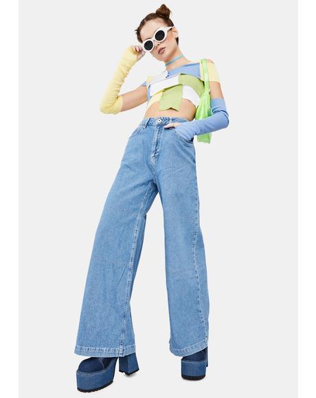 Grueler Wide Leg Jeans