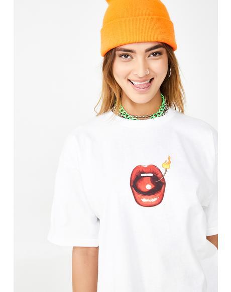 Hot Lips Graphic Tee
