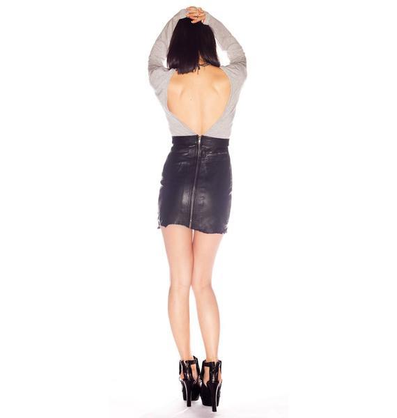One Teaspoon Storm Rider Leather Dress