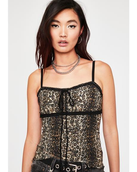 Cat Eyez On You Leopard Cami
