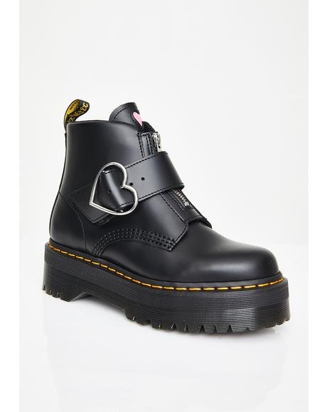 x Lazy Oaf Buckle Boots