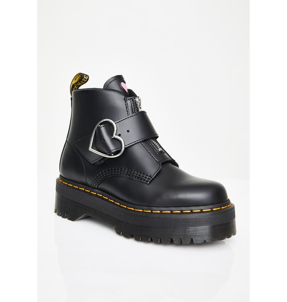 Dr. Martens x Lazy Oaf Buckle Boots