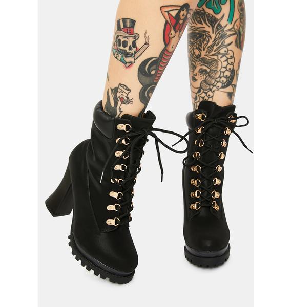 Adventurous Heart Heeled Hiker Boots