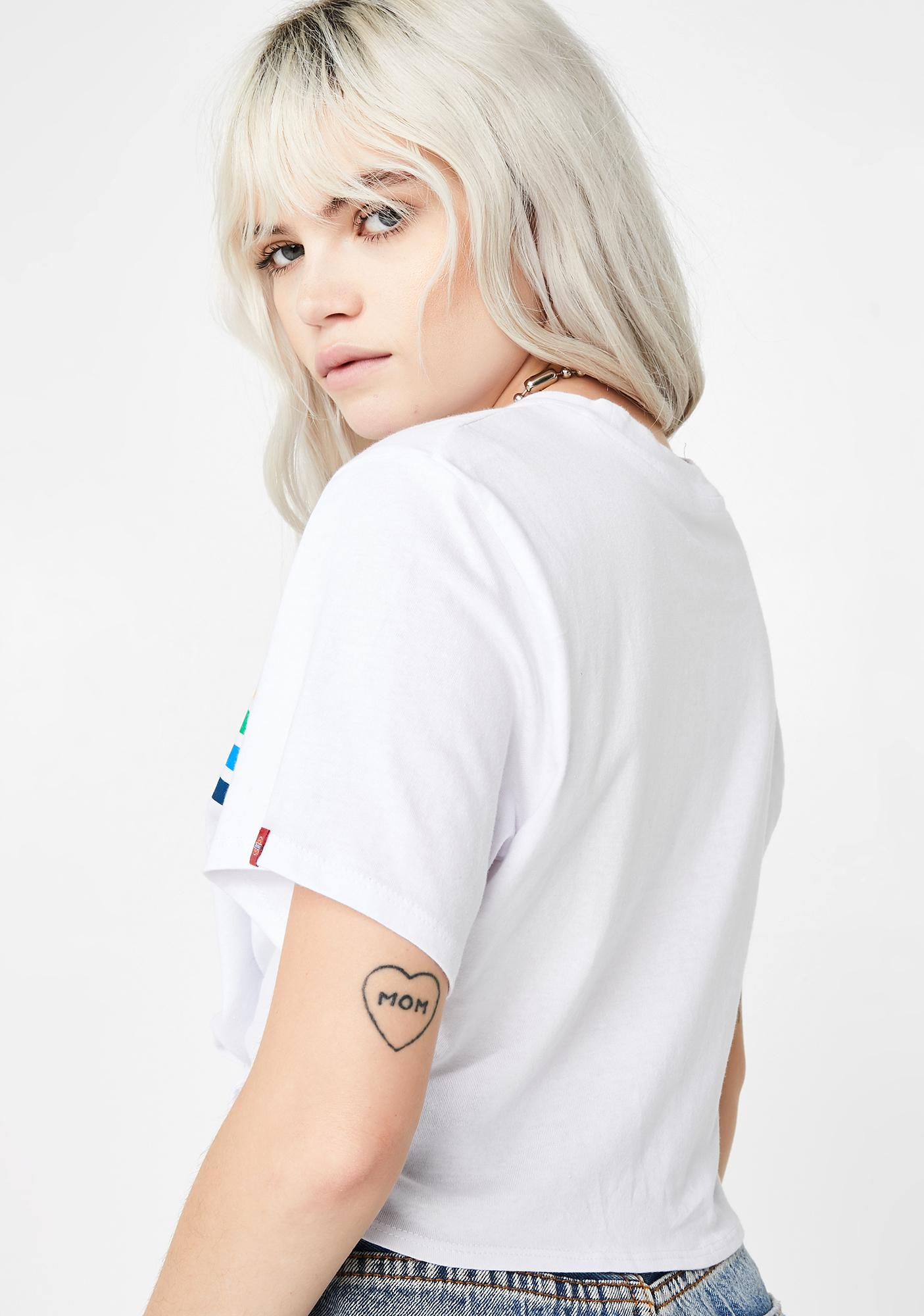 Dickies Girl Vintage Rainbow Front Tie T-Shirt