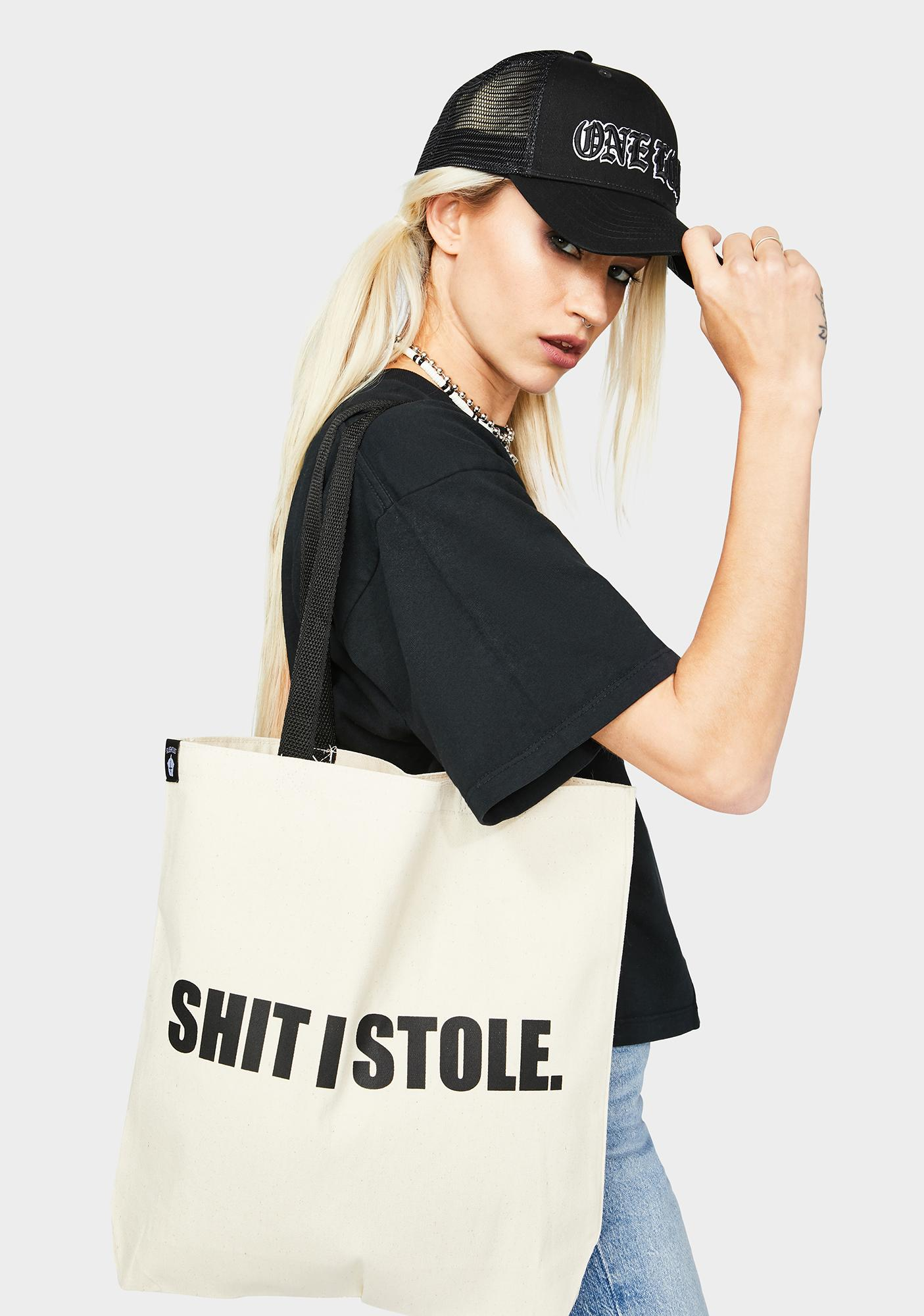 Slushcult Shit I Stole Tote Bag