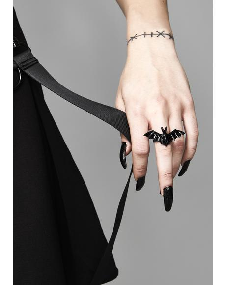 Veil Of Darkness Bat Ring