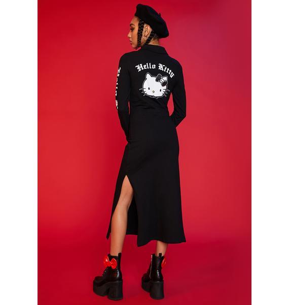 Dolls Kill x Hello Kitty Mischief On My Mind Polo Dress