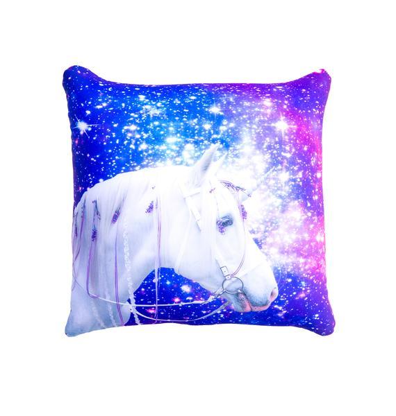 Galaxy Unicorn Pillow