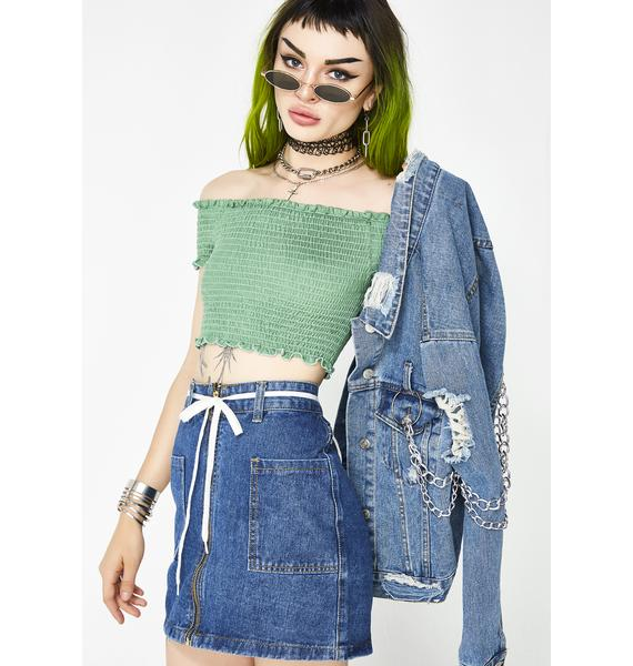 Poisoned By Me Smocked Top