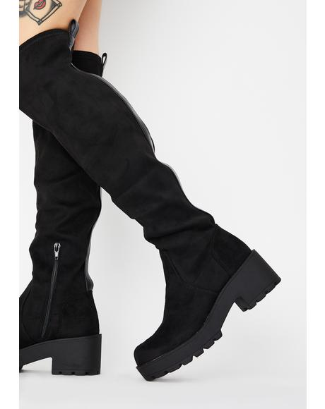 Passport Knee High Boots