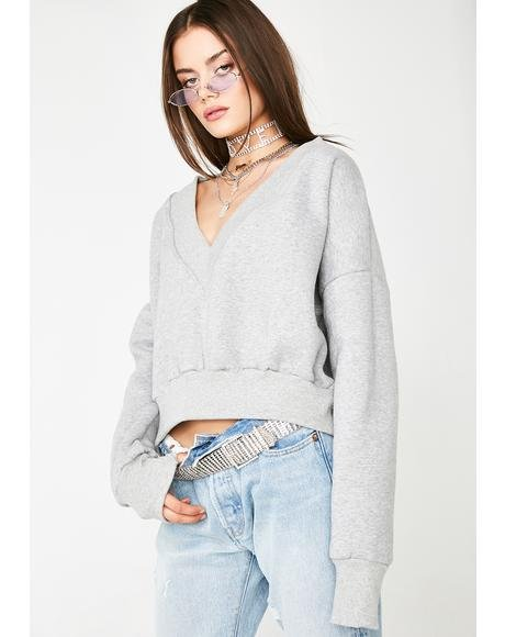 Iced V-Neck Sweater