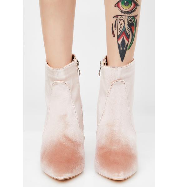 Public Desire Reverend Velvet Ankle Boots