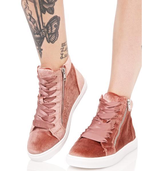 Steve Madden Earnst Velvet Sneakers