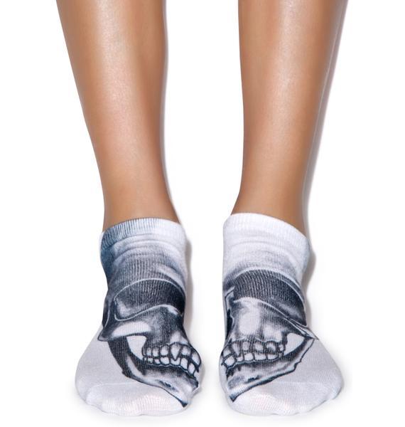 Skull-kin' Around Ankle Socks