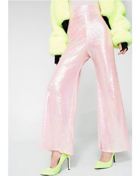Sequin Pastel Flares