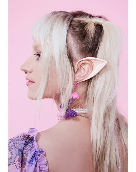 Pink Short Elf Ears